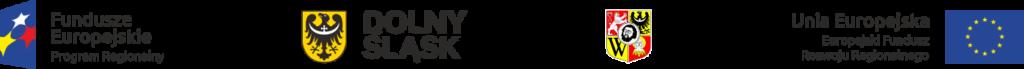 Grafika zawierająca następujące logo: Fundusze Europejskie Program Regionalny, Dolny Śląsk, herb Wrocławia, flaga Unii Europejskiej z napisem Unia Europejska Europejski Fundusz Rozwoju Regionalnego