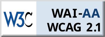 Logo dostępności cyfrowej zgodnie ze standardem WCAG 2.1 AA